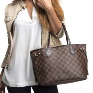 Auth Louis Vuitton Neverfull Pm Tote #7988L43